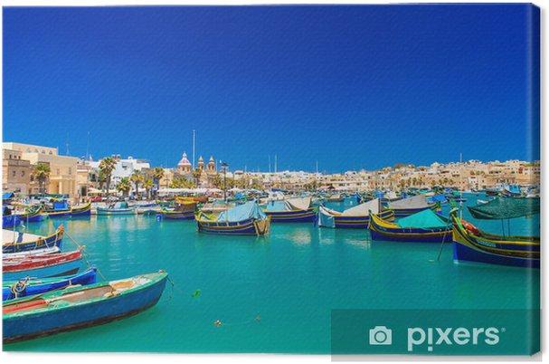 Turkis hav Fotolærred -