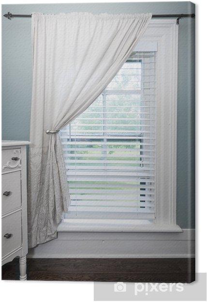 Vindue med persienner og gardiner Fotolærred • Pixers® - Vi lever ... 8e5423fecc5ed