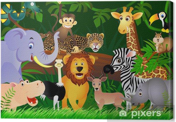 Wild animal cartoon Fotolærred -