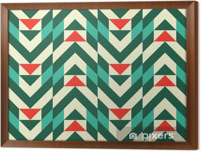 Abstract geometric pattern Framed Canvas - Fashion
