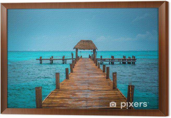 Caribbean pier Framed Canvas - Themes