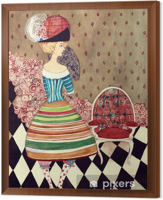fairy lady Framed Canvas - Fashion