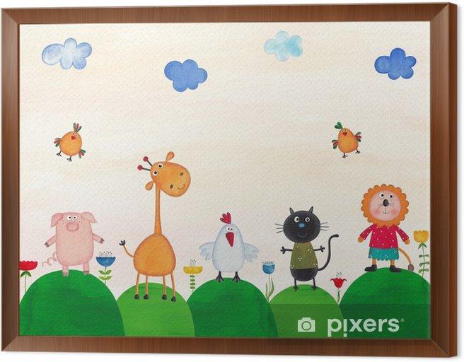 Illustration for children Framed Canvas - Animals