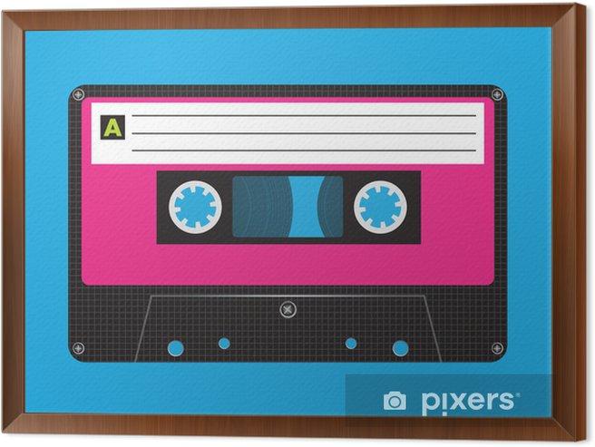 Retro Cassette Framed Canvas - Styles