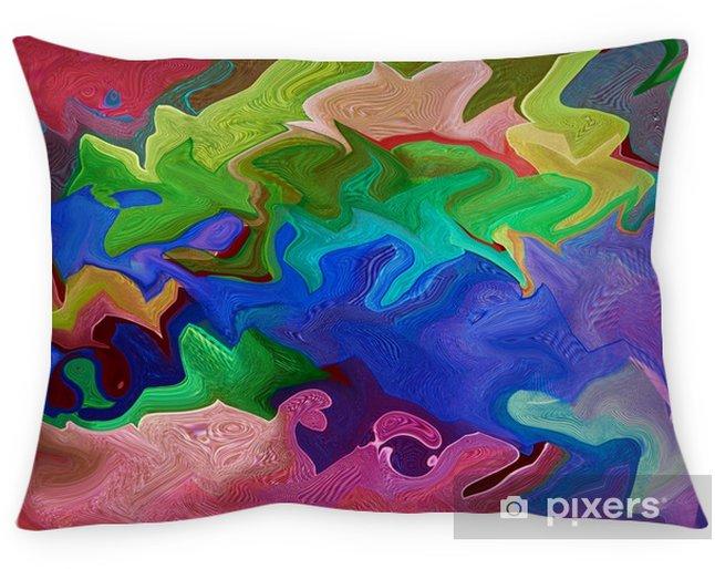 Funda de almohada Composición abstracta en colores verde, naranja, azul y rojo. abstracción, textura, fondo - Recursos gráficos