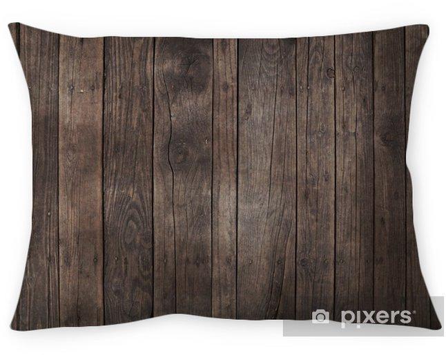 Funda de almohada Fondo de tablones de madera marrón oscuro vintage antiguo - Recursos gráficos