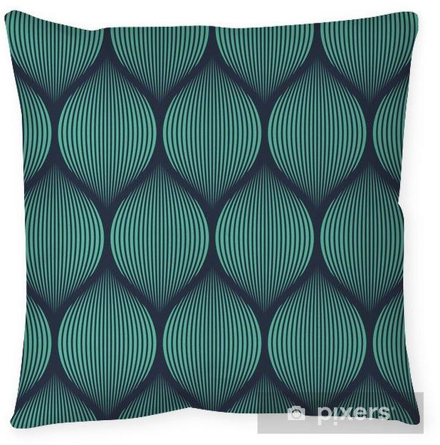 Funda de almohada Neón de color azul transparente ilusión óptica tejida vector patrón -
