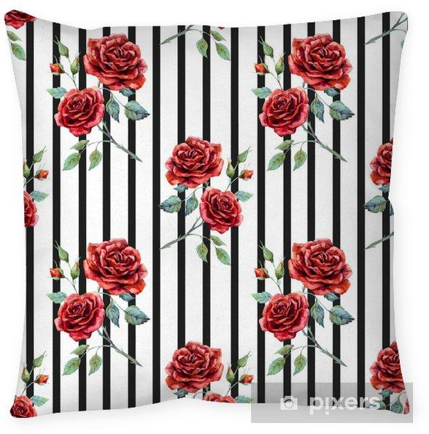 Funda de almohada Patrón de acuarela rosa - Plantas y flores