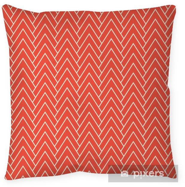Funda de almohada Patrón de chevron rojo - Recursos gráficos