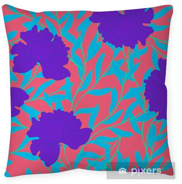 Funda de almohada Patrón de elegancia abstracta con fondo floral. - Plantas y flores