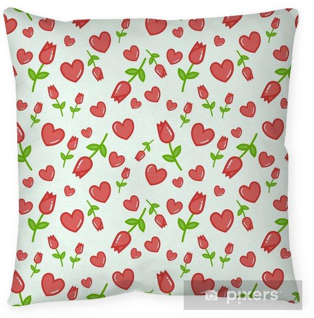 Funda De Almohada Patrón De Vector Transparente Con Fondo Blanco Tulipanes De Color Rosa Fondo Transparente Floral Para Vestido Fabricación Fondos