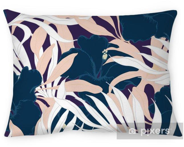 Funda de almohada Resumen de patrones sin fisuras elegancia con fondo floral. - Plantas y flores