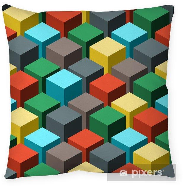 Funda de almohada Sin fisuras patrón abstracto geométrico. ilustración vectorial - Recursos gráficos