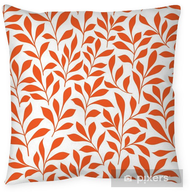 Funda de almohada Sin fisuras patrón de color naranja hierbas silvestres - Recursos gráficos