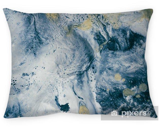 Funda de almohada Textura de mármol azul. - Recursos gráficos