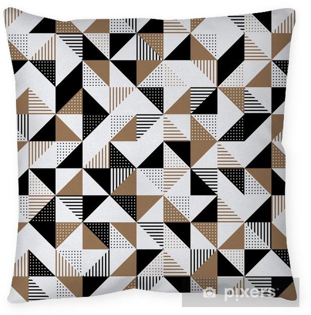 Funda de almohada Un fondo geométrico dorado y negro. - Recursos gráficos