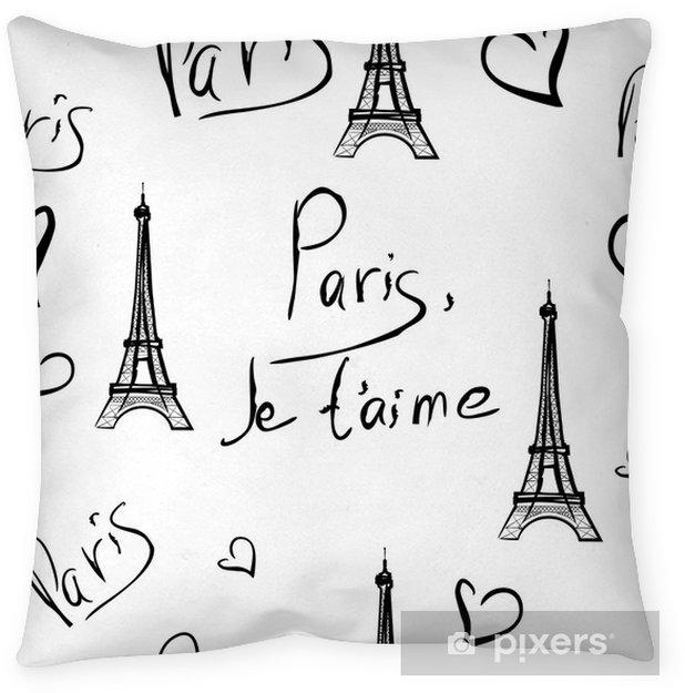 Funda de almohada Vector sin patrón de París - Fondos