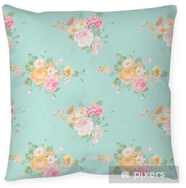 Funda de almohada Vintage Flores Antecedentes - sin patrón floral elegante lamentable - Recursos gráficos