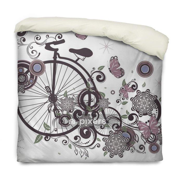 Edredon Bicicleta.Funda De Edredon Bicicleta Vieja Y Ornamento Floral