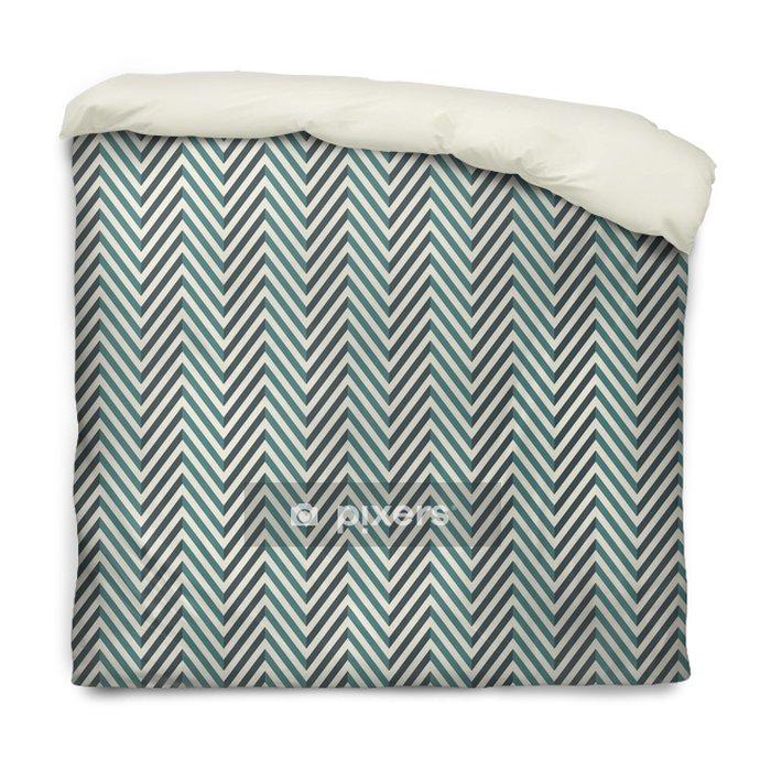 Funda de edredón Fondo abstracto de espiga. colores azul de patrones sin fisuras con líneas diagonales de chevron. - Recursos gráficos