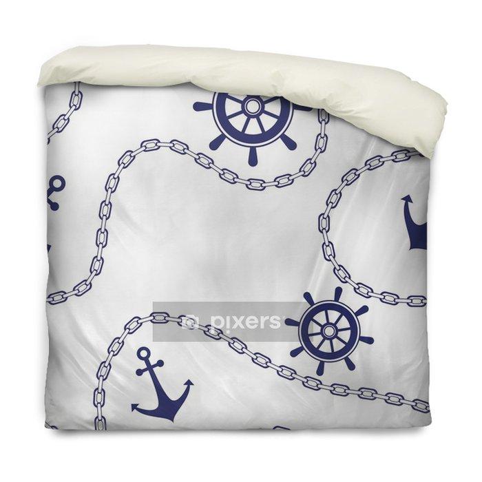 Funda de edredón Fondo marino mar ancla y cadena. - Recursos gráficos