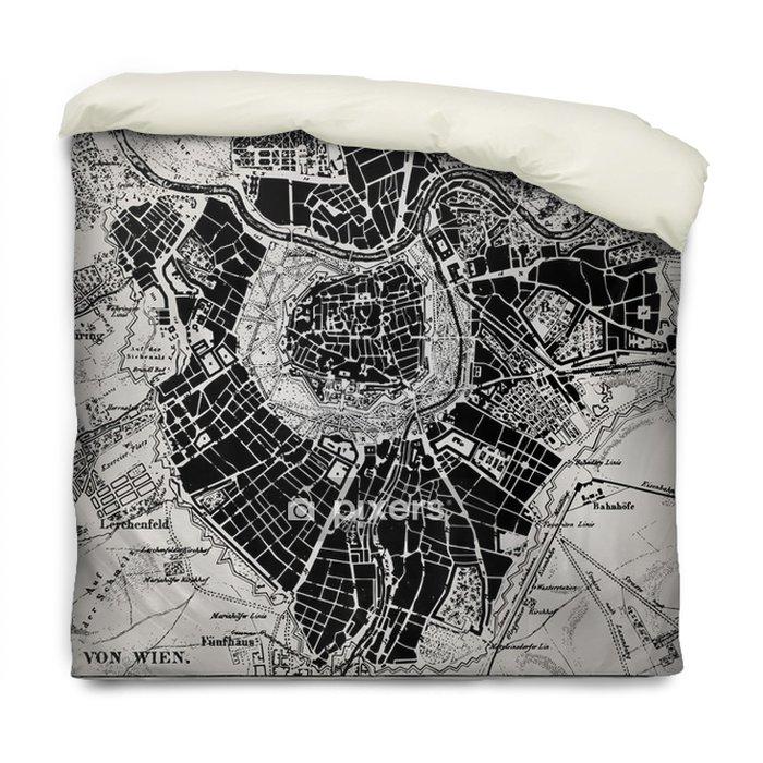 Funda de edredón Mapa histórico de Viena, Austria. - Temas