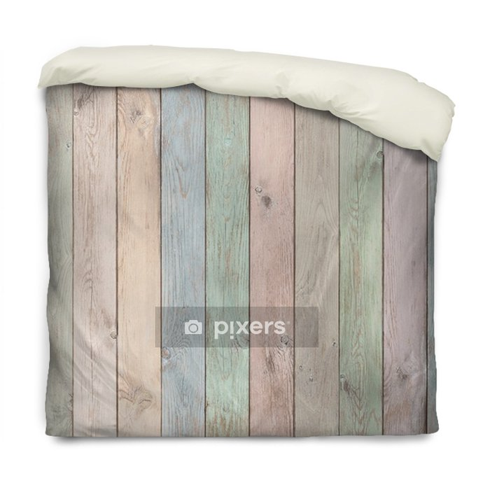 Funda de edredón Tablones de madera color pastel textura o fondo - Recursos gráficos