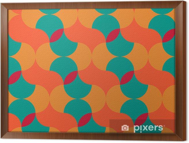 Gerahmtes Leinwandbild Abstrakt retro geometrische Muster - Hintergründe