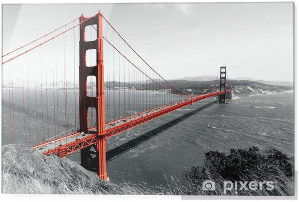 Glass print Golden Gate Bridge - iStaging