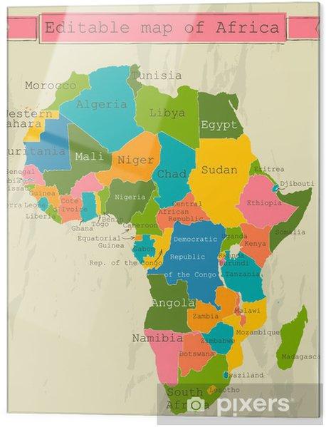 Karta Over Afrikas Horn