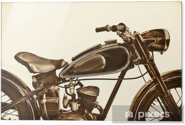 Glastavla Sepia tonad bild av en vintage motorcykel - Transport