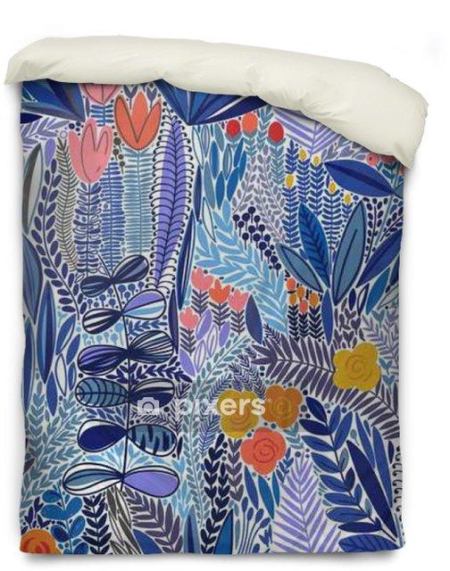 Housse de couette Tropical seamless floral pattern - Plantes et fleurs