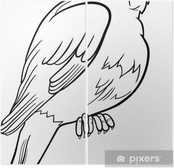 Bülbül Kuş Boyama Iki Parçalı Pixers Haydi Dünyanızı Değiştirelim