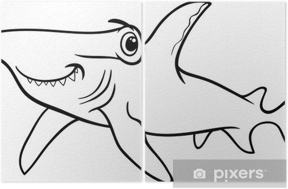 çekiç Köpekbalığı Boyama Kitabı Iki Parçalı Pixers Haydi