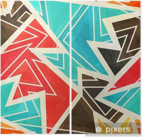 İki Parçalı Grunge etkisi ile gençlik geometrik seamless pattern - Grafik kaynakları