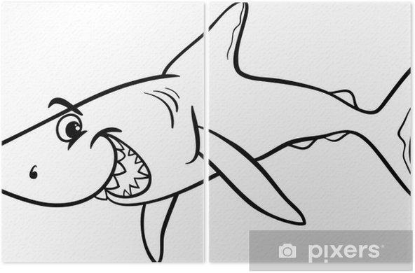 Kopekbaligi Hayvan Karikatur Boyama Kitabi Iki Parcali Pixers