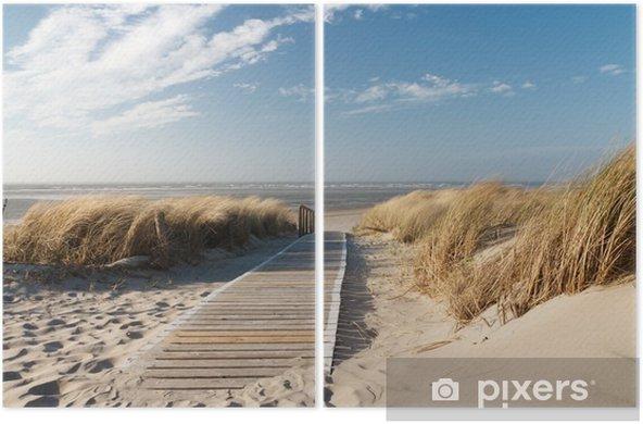 İki Parçalı Nordsee Strand auf Langeoog - Deniz ve okyanus