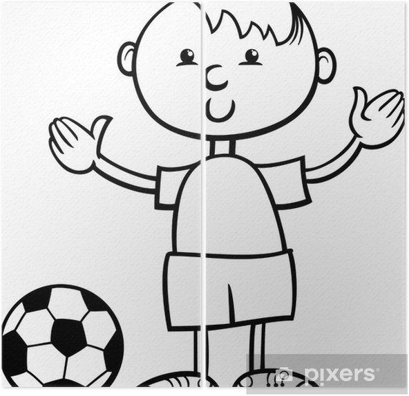 Top Karikatür Boyama Ile çocuk Iki Parçalı Pixers Haydi