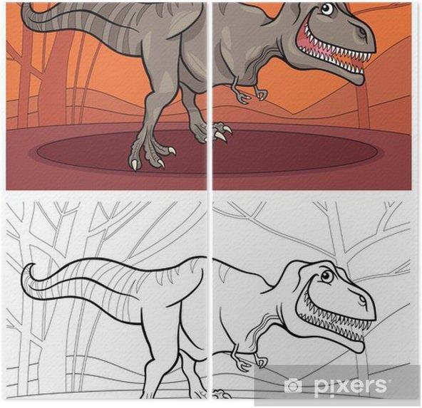 Tyrannosaurus Boyama Için Dinozor Rex Iki Parçalı Pixers Haydi