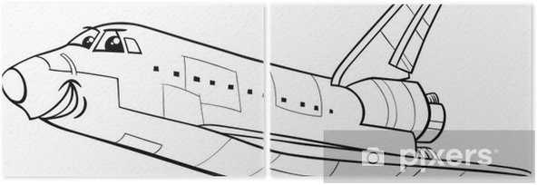 Uzay Mekiği Boyama Kitabı Iki Parçalı Pixers Haydi Dünyanızı