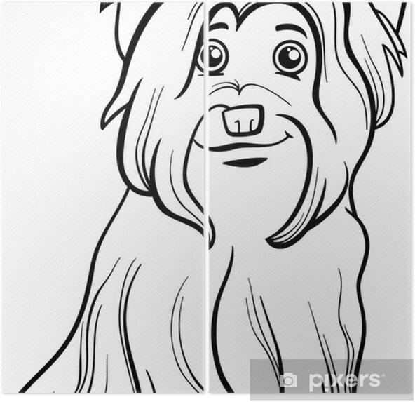 Yorkshire Terrier Köpek Boyama Kitabı Iki Parçalı Pixers Haydi