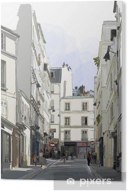 Impressão em PVC Rua perto de Montmartre, em Paris - Construções e Arquitetura