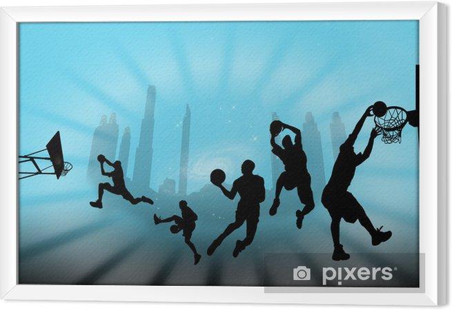 Ingelijst Canvas Баскетбол - Basketbal