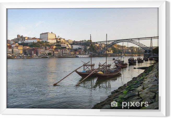 Ingelijst Canvas Cidade do Porto eo seu Rio Douro - Vakantie