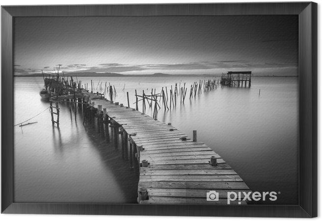 Ingelijst Canvas Een rustige oude pier - Landschappen