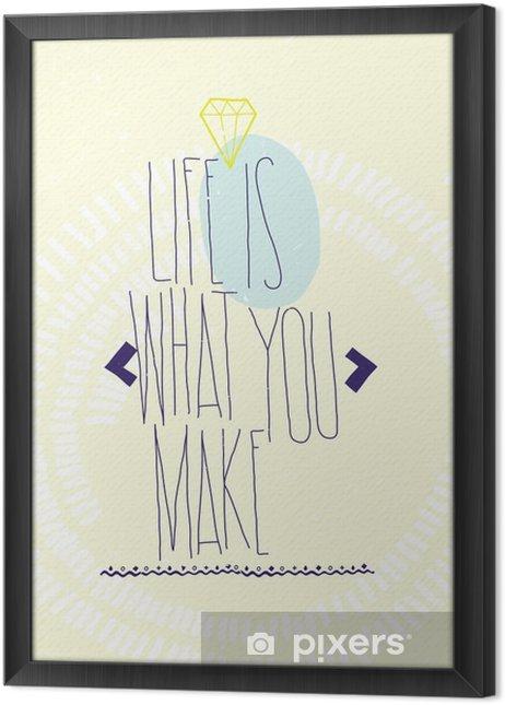 Ingelijst Canvas Eenvoudige inspirerende motiverende citaten poster met diamant, dood - Business