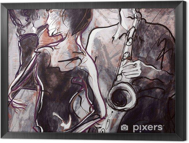Ingelijst Canvas Jazz band met dansers - jazz