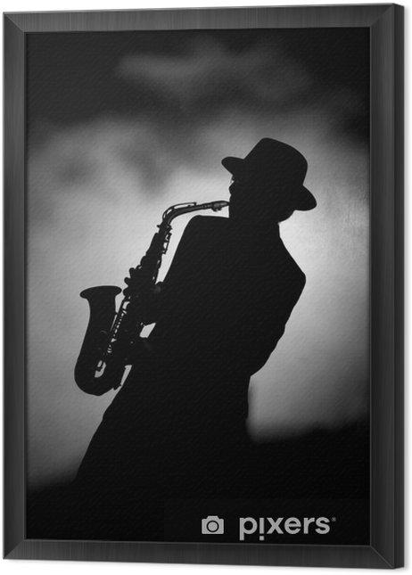 Ingelijst Canvas Jazz sax - jazz