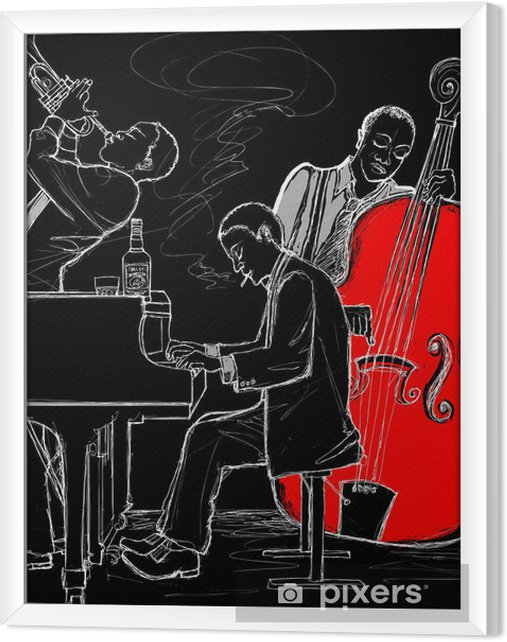 Ingelijst Canvas Jazzband - jazz