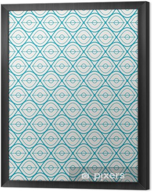 Ingelijst Canvas Naadloze geometrische patroon - Grafische Bronnen
